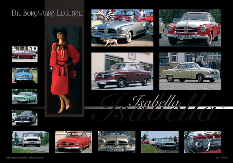 Borgward Poster-Bildcollagen