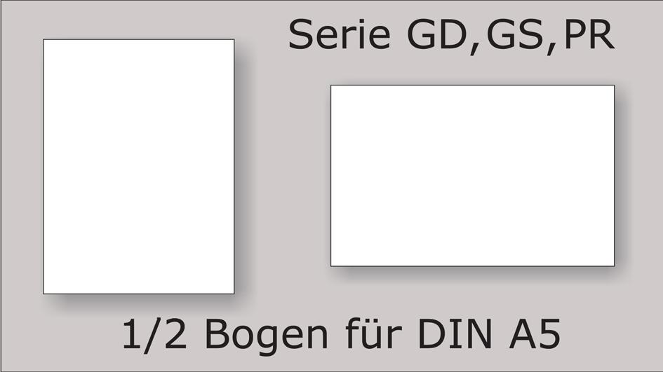 Serie GD, GS, PR, 1/2 A5