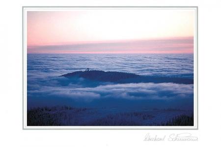 Abendwolken über Harzlandschaft
