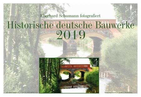 """Kalender 2019 """"Historische deutsche Bauwerke"""""""